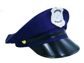 Policejní čepice modrá dospělý