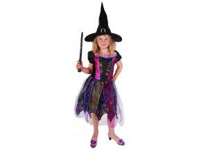 Karnevalový kostým čarodějnice barevná