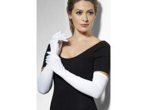 Dlouhé rukavice bílé