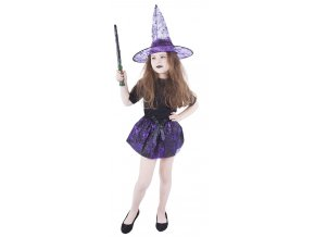 Fialová Halloween sukně a klobouk