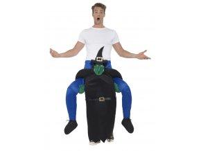Kostým jezdec na čarodějnici piggyback