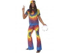 Pánský kostým Hippie batikovaný