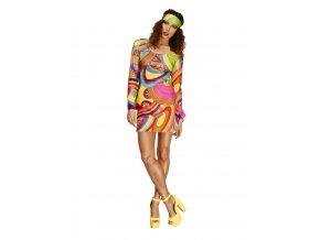 Dámské hippies šaty multicoloured