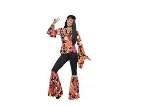 Dámský retro kostým hippiesačka