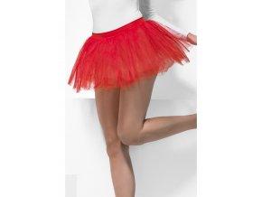 Dámská tutu sukně červená krátká