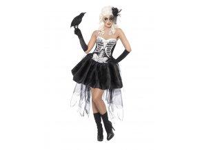 halloween kostým kostlivka burleska