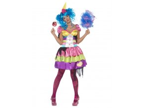 Dámský kostým halloween klaun