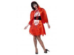 Halloween kostým zombie Červená Karkulka