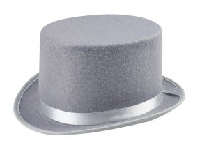 šedý cylindr klobouk