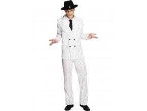 Pánský kostým gangster bílý oblek