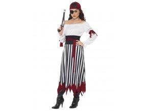 maska pirátka kostým pirátky dospělý