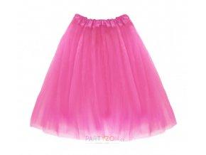 dlouhá růžová tutu sukně dospělý