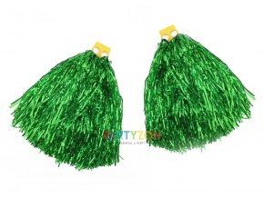 zelené pompony pro roztleskávačky a mažoretky