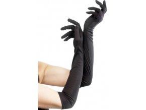 dlouhé černé rukavice na ples 30.léta
