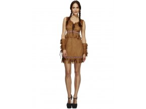 Dámský kostým indiánka Pocahontas partyzon