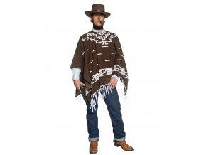Pánský kostým kovboj pončo hnědé
