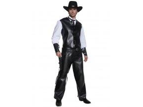 Pánský kovbojský kostým černý