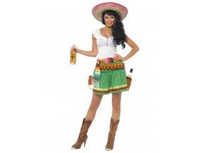 Dámský kostým Mexičanka Tequila šaty