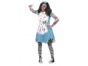 Zombie kostým Alenka v říši divů
