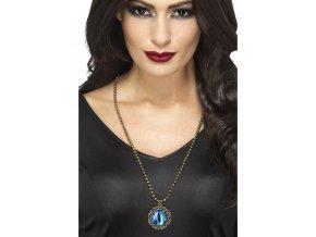 Gothic náhrdelník modré oko halloween partyzon