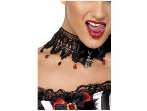krajkový choker halloween upírka gothic