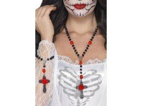 Set náhrdelník a náramek Sugar Skull halloween doplnky