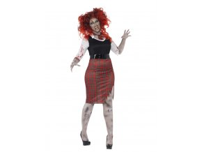 Kostým zombie školačka plus size