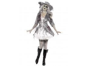 Kostým šaty duch pirátka dospělý