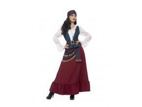 Dámský kostým pirátka bukanýrka karneval