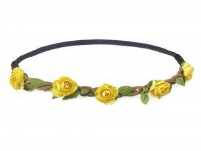 květinová čelenka žluté růžičky levně