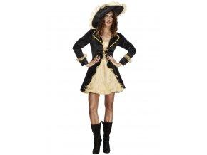 Dámský kostým pirátky zlatý