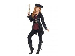 Kostým pirátky Kapitánka černá