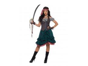 kvalitní Pirátský kostým pirátka bukanýrka