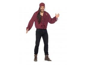 Pánská pirátská košile burgundy