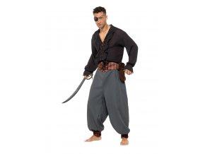 Pirátské kalhoty šedé