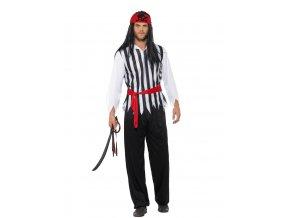 Kostým piráta pruhovaný