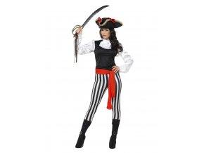 Dámský kostým elegantní pirátka dospělý