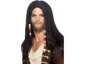 Pánská paruka s dredy Pirát