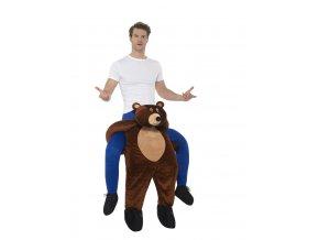Kostým jezdec na medvědovi piggyback