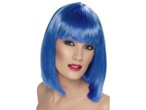 Dámská paruka modrá mikádo partyzon