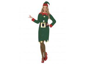 Dámský kostým Elf zelený