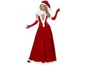Dámský vánoční kostým Miss Santa šaty