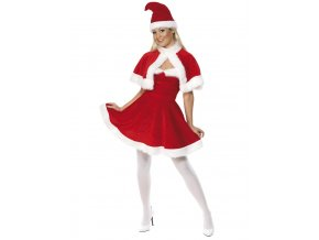 Sametový kostým Miss Santa