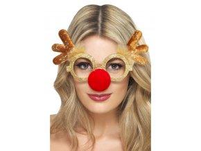 Párty brýle vánoční sob