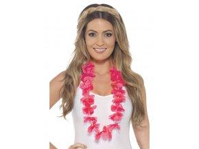 Havajský věnec růžový levně