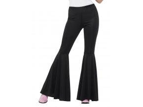 Dámské kalhoty zvonáče černé partyzon