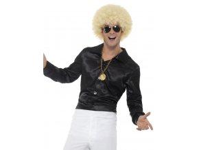 Černá retro košile Disco karneval