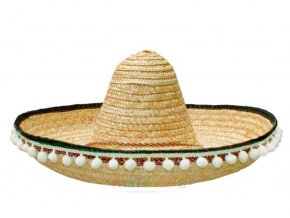 mexické sombrero slaměné