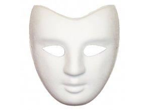 bílá maska na domalování dospělý