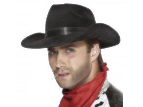 kovbojský klobouk černý levně